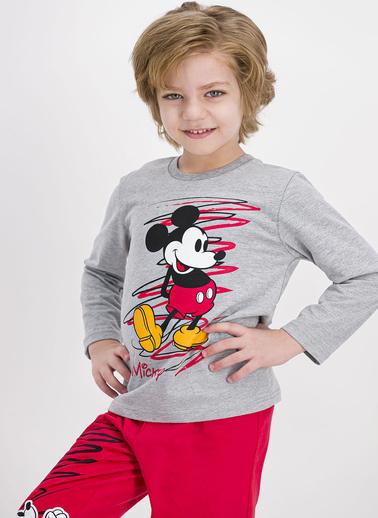 Mickey Mouse Pijama Takım Gri